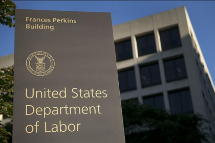 U.S. Department of Labor Monument Sign